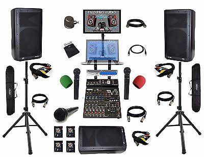 Pro audio equipment karaoke bar system karaoke system laptop (ready) (hookups)