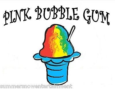 Pink Bubble Gum Snow Coneshaved Ice Flavor Gallon Concentrate 1 Flavor N World