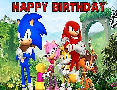 Sonic Personalized Edible Print Premium Cake Topper Frosting Sheets 5 Sizes (Sonic Cake)