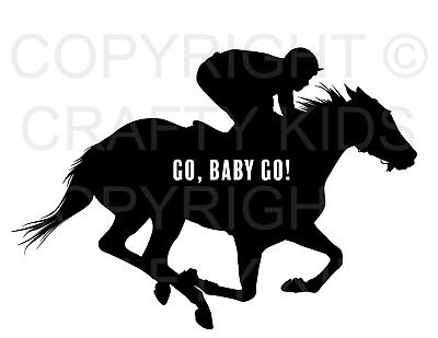 Kentucky Derby Printables (Kentucky Derby Printable Party Sign Race Go Baby Go Black & White Horse 8.5 x)