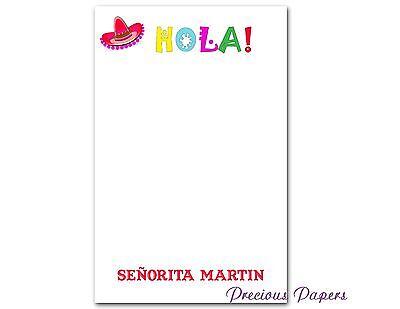 Spanish Teacher Personalized Note Pads Spanish Teacher Gifts