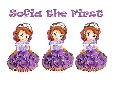 Princess Sofia the First Cupcake Topper (12pcs)