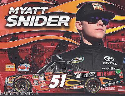 2017 Myatt Snider  Louisiana Hot Sauce   51 Kbm Nascar Truck Postcard