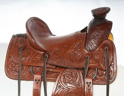 Hilason Western Saddle Repair Leather 1 Latigo Carrier 1 Girth holder Mahogany U
