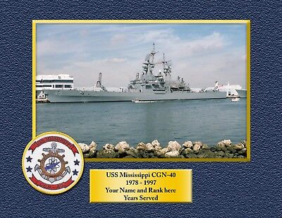 USS MISSISSIPPI CGN40 Custom Personalized Print of US Navy Gift Idea for sale  Whitman