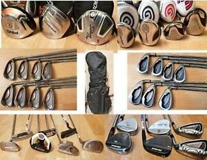 R.H Mens Irons, Putters,Drivers Golf Clubs. Ping ,Cleveland ...