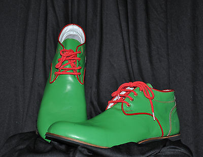 ZYKO Professional Real Leather Clown Shoes Chaplin Green model   (ZH029) (Green Clown Shoes)