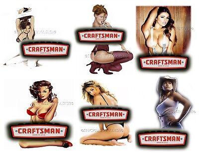 Girl Sticker Set (CRAFTSMAN TOOLS STICKER SET of 6 GLOSSY DECALS TOOL BOX SEXY PINUP GIRLS)