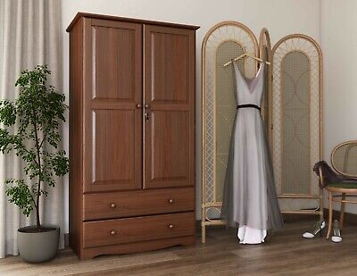 100% Solid Wood Smart Wardrobe/Armoire/Closet by Palace Imports Bedroom Solid Pine Armoire