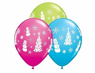 Festive Winter Scene Latex Balloons Christmas Party Decor School Retail - Winter School Decorations
