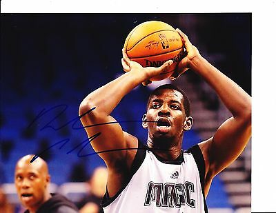 ORLANDO MAGIC ANDREW NICHOLSON SIGNED FREE THROW 8X10