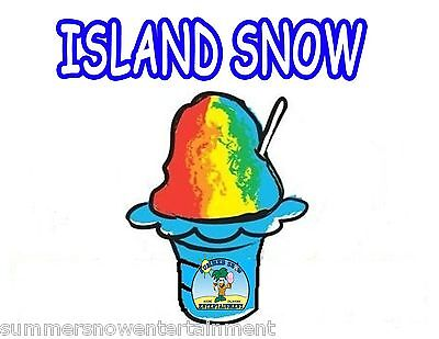 Island Snow Syrup Mix Snow Coneshaved Ice Flavor Gallon Concentrate 1flavor