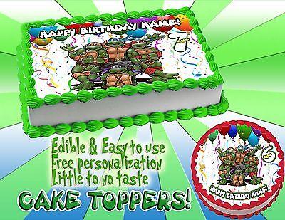 Teenage Mutant Ninja Turtles Edible Cake Topper image mutan sugar paper - Ninja Turtle Cake Topper
