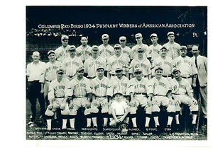 1934-COLUMBUS-RED-BIRDS-AMERICAN-ASSOCIATION-CHAMPS-BASEBALL-8X10-TEAM-PHOTO