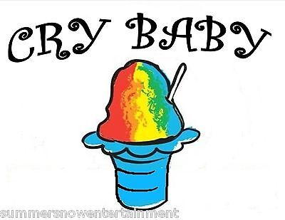 Cry Baby Syrup Mix Shaved Ice Snow Cone Flavor Gallon Concentrate 1