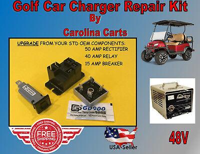 50AMP UPGRADE GOLF Battery Charger Repair Kit Club Car 48 Volt PowerDrive2 22110 48 Volt Power Drive