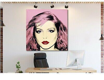 Andy Warhol- Debbie Harry - Pop Art - Blondie - Framed Canvas - Various Sizes (Framed Pop Art)