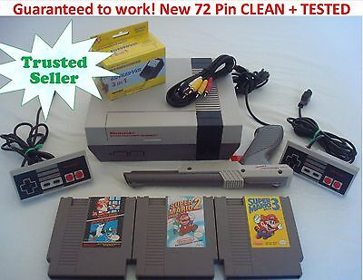NINTENDO NES Console NEW PINS! System Bundle Game Lot Super Mario 1 2 3 TRILOGY
