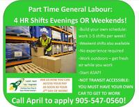 PART TIME EVENING WORK AT THE HAMILTON AIRPORT! START ASAP!