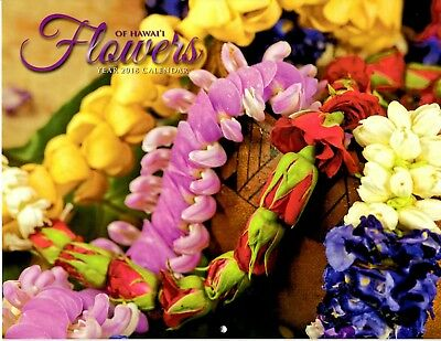 2018 Calendar Flowers of Hawaii Hawaiian island