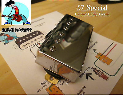 G.M. 57 Special Alnico II Chrome Humbucker Bridge(4-wire) for Gibson Epiphone®