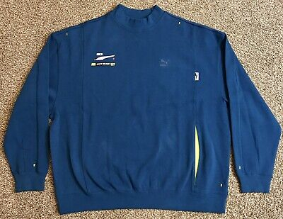 Puma x Ader Error Crewneck Sweater, Size Large, Blue, NWT NEW