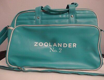 ZOOLANDER NO. 2 MOVIE PROMO TURQUOISE/WHITE DUFFEL BAG BY GEMLINE BEN STILLER
