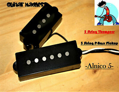 G.M. 5 String Thumpers! 60's Style P-Bass Alnico 5 Pickups