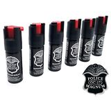 6 Police Magnum pepper spray 1/2oz ounce safety lock defense security protection