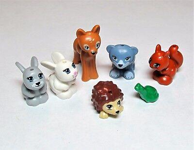 NEW LEGO Lot 12 Animal Minifig Fawn Deer Bunny Bear Hedgehog Squirrel Friends