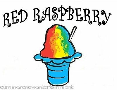 Red Raspberry Syrup Mix Snow Coneshaved Ice Flavor Gallon Concentrate 1 Flavor
