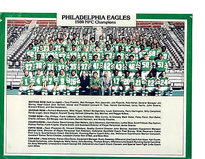 1980 PHILADELPHIA EAGLES NFC CHAMPIONS  8X10 TEAM PHOTO  FOOTBALL NFL USA
