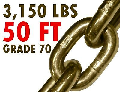 14 X 50 Grade 70 Transport Chain Flatbed Tow Truck Trailer Safety Wll 3150 Lb