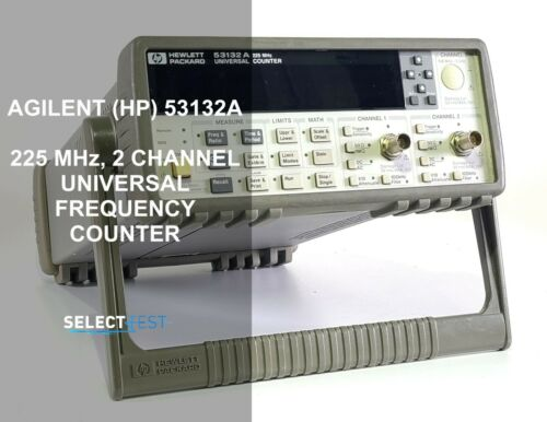 AGILENT (HP) 53132A 225 MHz 12 DIGITS FREQUENCY COUNTER U***LOOK*** (REF.: 743G)