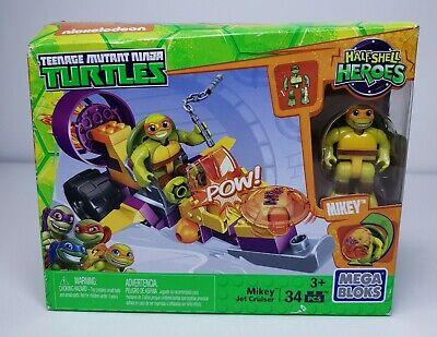 Mega Bloks TMNT Half-Shell Heroes Mikey Jet Cruiser 34 pieces