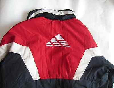 (Adidas Vintage Dark Blue Jacket Coat Winter Track Training Athletic Size XL Rare)