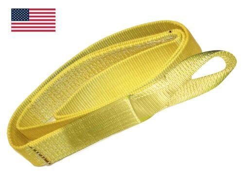 3 x 12 ft Nylon  Web Lifting Sling Strap 2 Ply EE2-903 Eye & Eye USA DOMESTIC