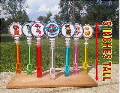 Paw Patrol Party Favors bubbles PATRULLA CANINA BURBUJITAS RECUERDOS chase ](Patrol Party)