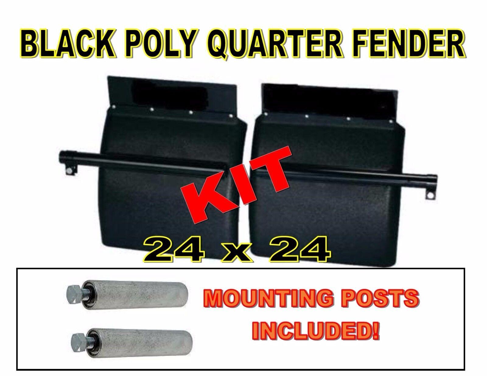 Poly Fender Mounting Kit : Black poly quarter fender set freightliner