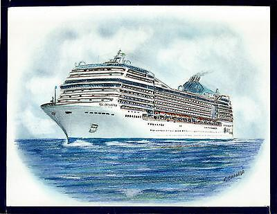 Original Art Work     Msc  Orchestra    Msc    Cruise Ship