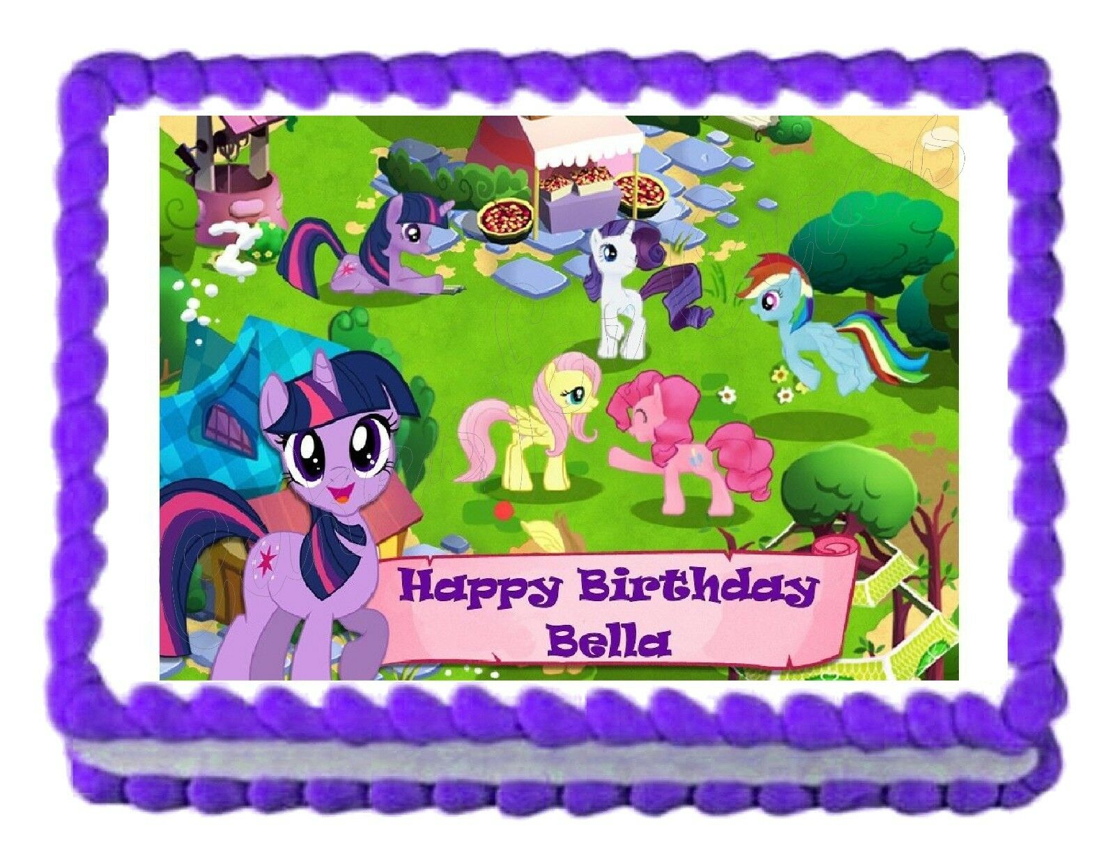 My Little Pony Party Decoration Edible Cake Topper