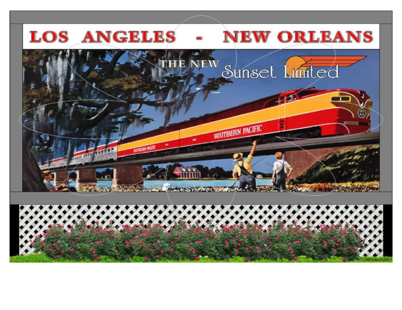 """Large 6""""x 4"""" Flexible Refrigerator Magnet - Southern Pacific Sunset Limited"""