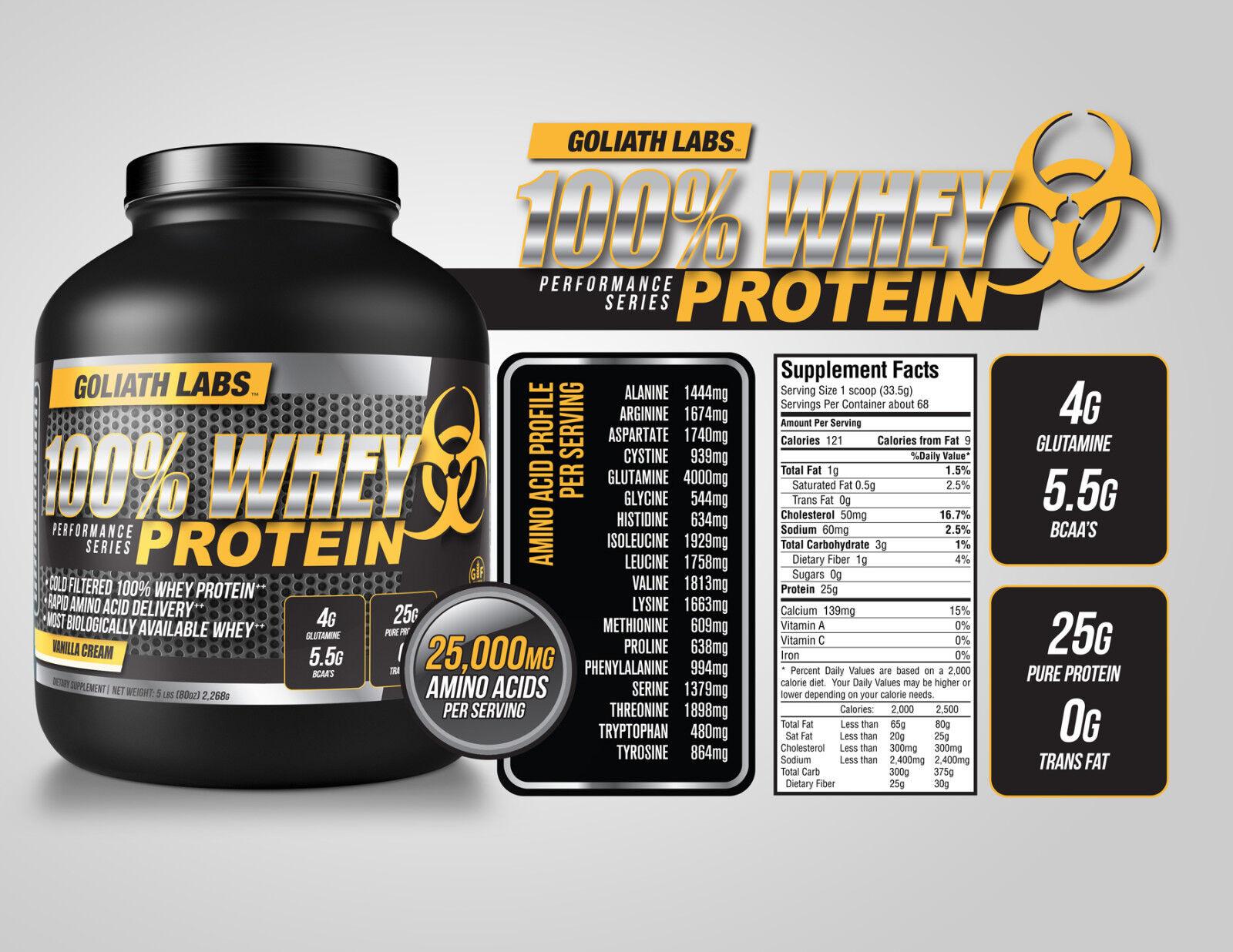 goliath labs whey protein powder 10lb chol