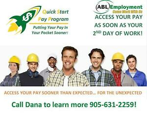 GENERAL LABOUR JOBS IN BURLINGTON: GET PAID QUICKLY!
