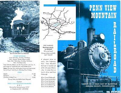 1969 PENN VIEW MOUNTAIN RAILROAD SCHEDULE BLAIRSVILLE PENNSYLVANIA Baldwin 0-6-0