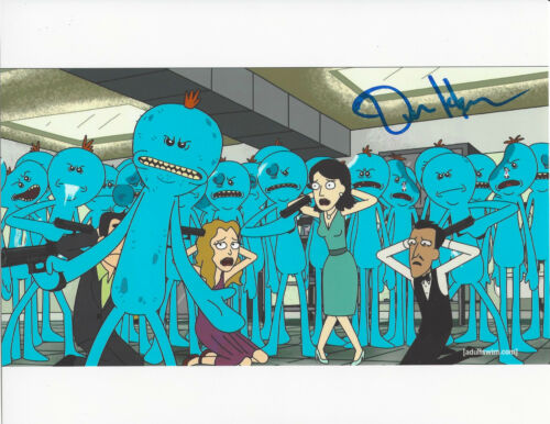 DAN HARMON - RICK AND MORTY CREATOR - SIGNED AUTHENTIC 8X10 PHOTO 9 w/COA PROOF