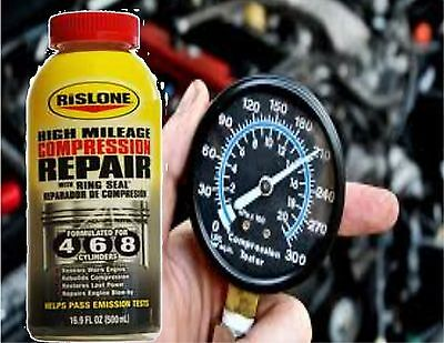 For all PORSCHE vehicles    Rislone Compression Repair with Piston Ring Seal