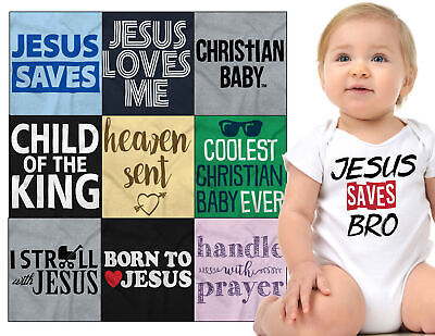 Baby Christian Shower Gift Romper For Boys Girls Faith Newborn Babies - Baby Shower Gifts For Boys