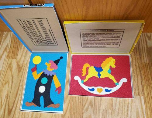 Vintage Lauri Crepe Foam Puzzles Rocking Horse, Clown  complete VGC