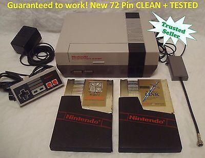 Nintendo NES ORIGINAL Console Bundle NEW PINS 2 Classic Games ZELDA and LINK  Classic Original Nintendo Game